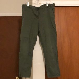 Gap Skinny Crop Olive Green Pants
